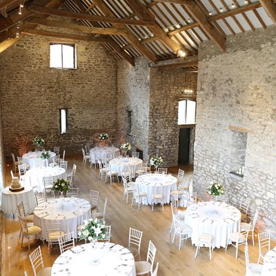 Round table layout in the Tythe Barn