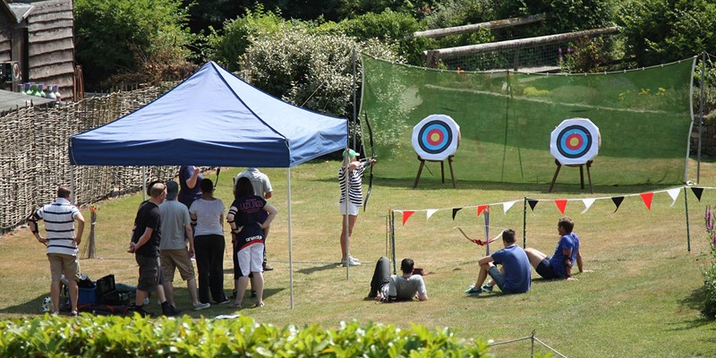 Archery teambuilding in Watermill garden