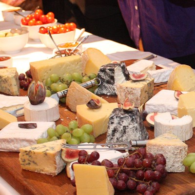 Cheese platter spread