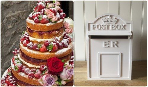 Wedding ideas for a cake and card box