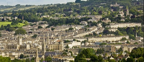 Skyline of the historic City of Bath
