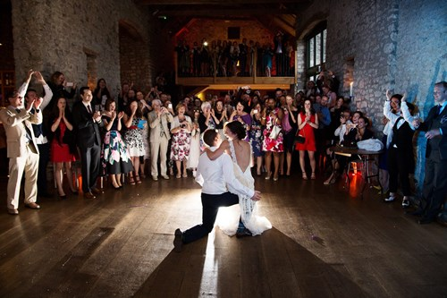 First dance in the Tythe Barn