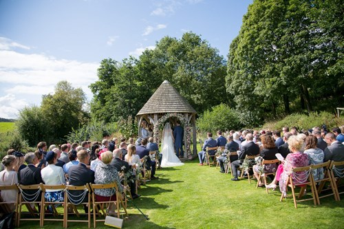 Outside ceremony at the watermill