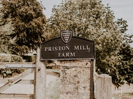 Entrance to Priston Mill wedding venue in Bath